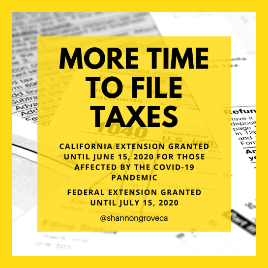 More Time to File Taxes