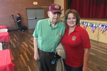 D-Day veteran Vito Mastrangelo and Senator Grove